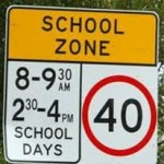 Drivers missing school zones