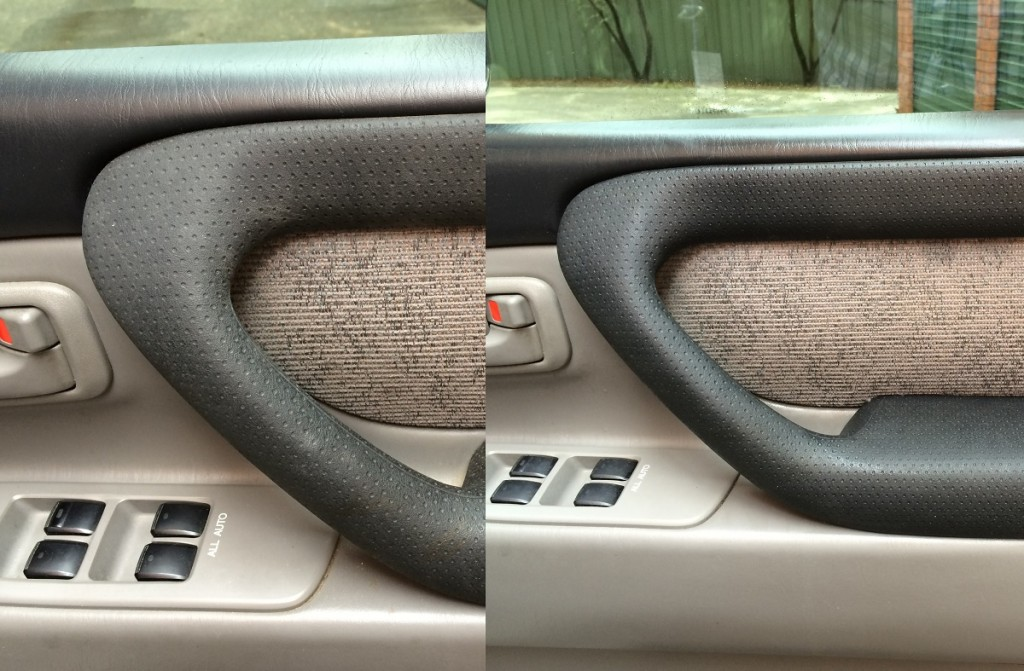 Demon Clean was used on the interior (results on right).