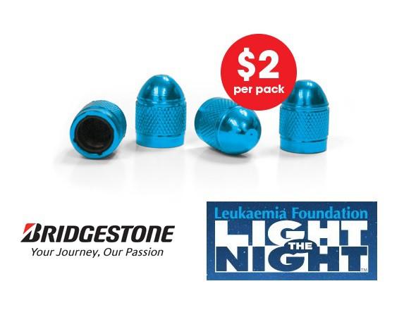 Blue valve cap fundraiser