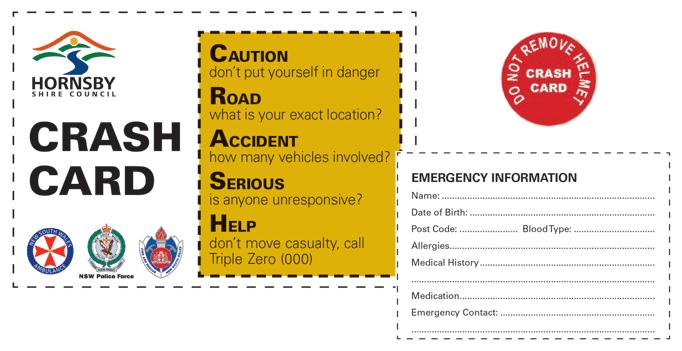 Hornsby Council Implements CRASH Card Scheme
