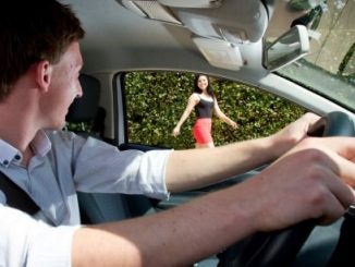 Attractive pedestrians distracting young drivers!