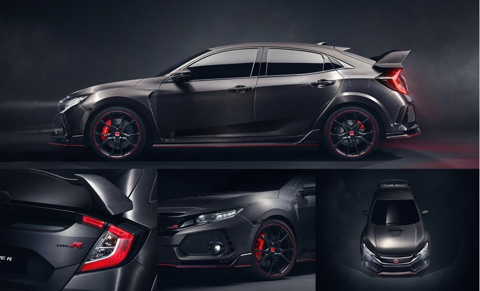 Honda Civic Type R Prototype revealed in Paris