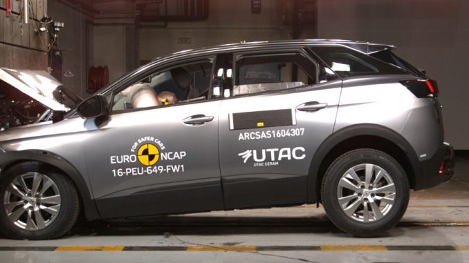Five-star safety score for Peugeot 3008