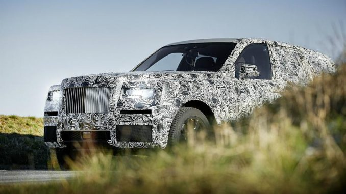 Rolls-Royce gives glimpse of SUV model