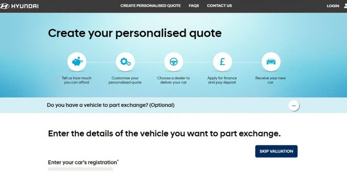 Hyundai begins online car sales in the UK