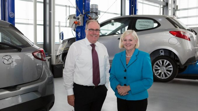 Assistant Minister tours Mazda training facility