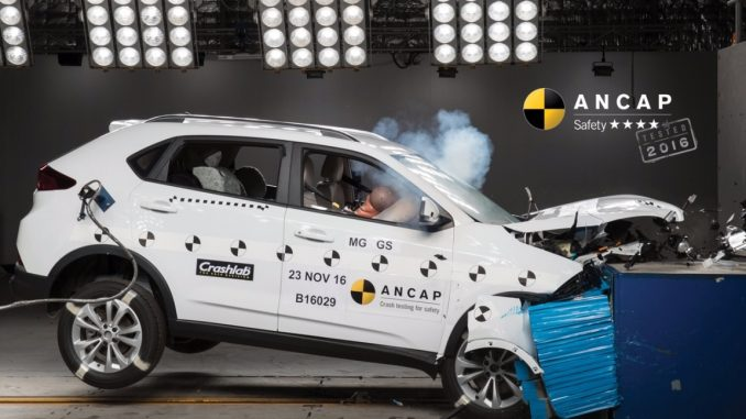 MG SUV gains a four-star safety rating