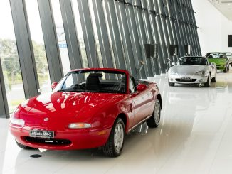 Peter Hitchener tours Mazda's Heritage Collection