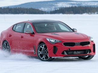 Kia Stinger being put to the test
