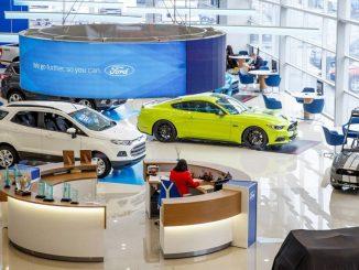 ford cars showroom