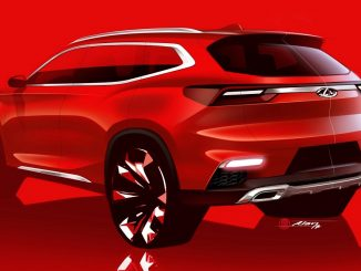 chery compact suv sketch 2017