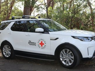 red cross land rover