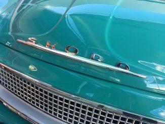 classic skoda car badge