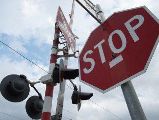 railway level crossing sign