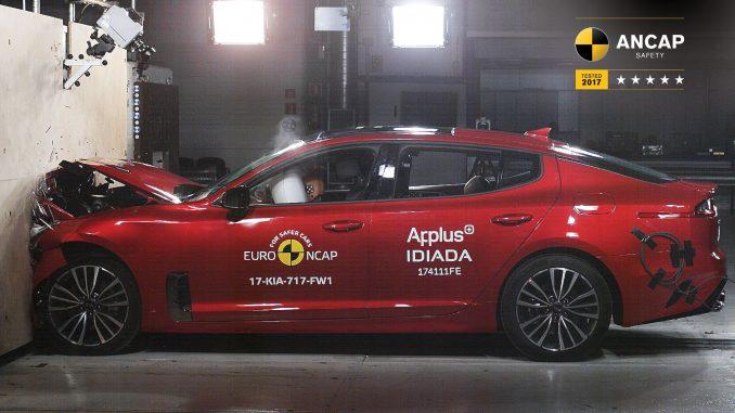 Five-star rating for Jaguar F-PACE and select Kia Stinger models