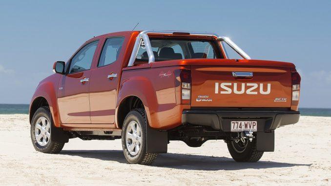 2018 isuzu d-max rear side