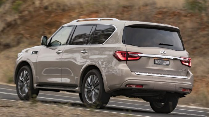2018 infiniti qx80 side and rear
