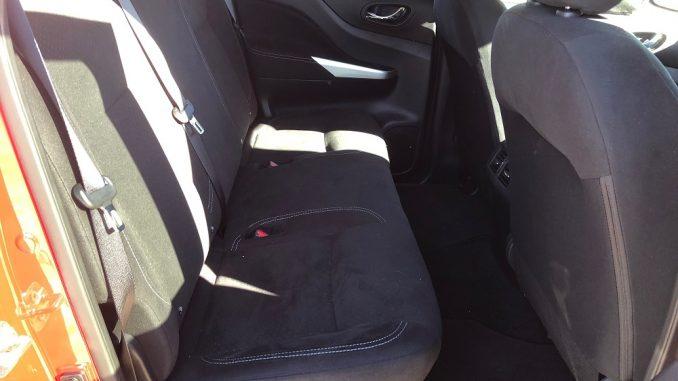 nissan navara rear seat