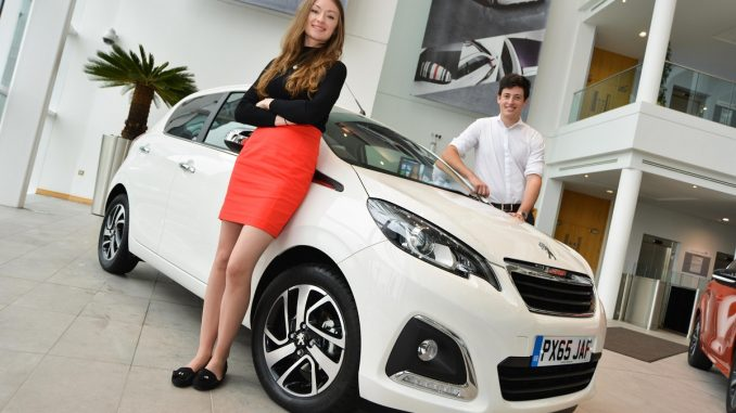 young car buyers couple
