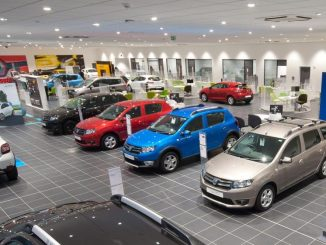 interior car dealership showroom
